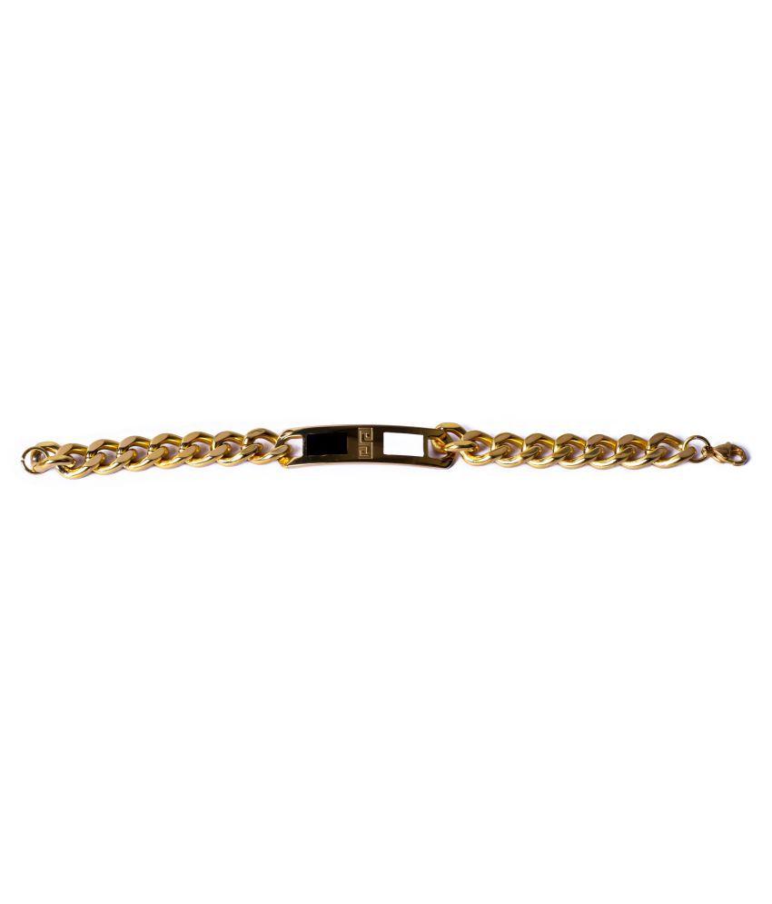 Handluv Fashionable Stainless Steel Golden Bracelet For Men