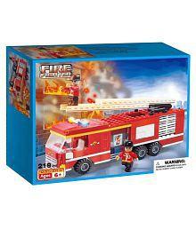 Webby Fire Fighter Fire Truck Building Blocks, 219 Pieces