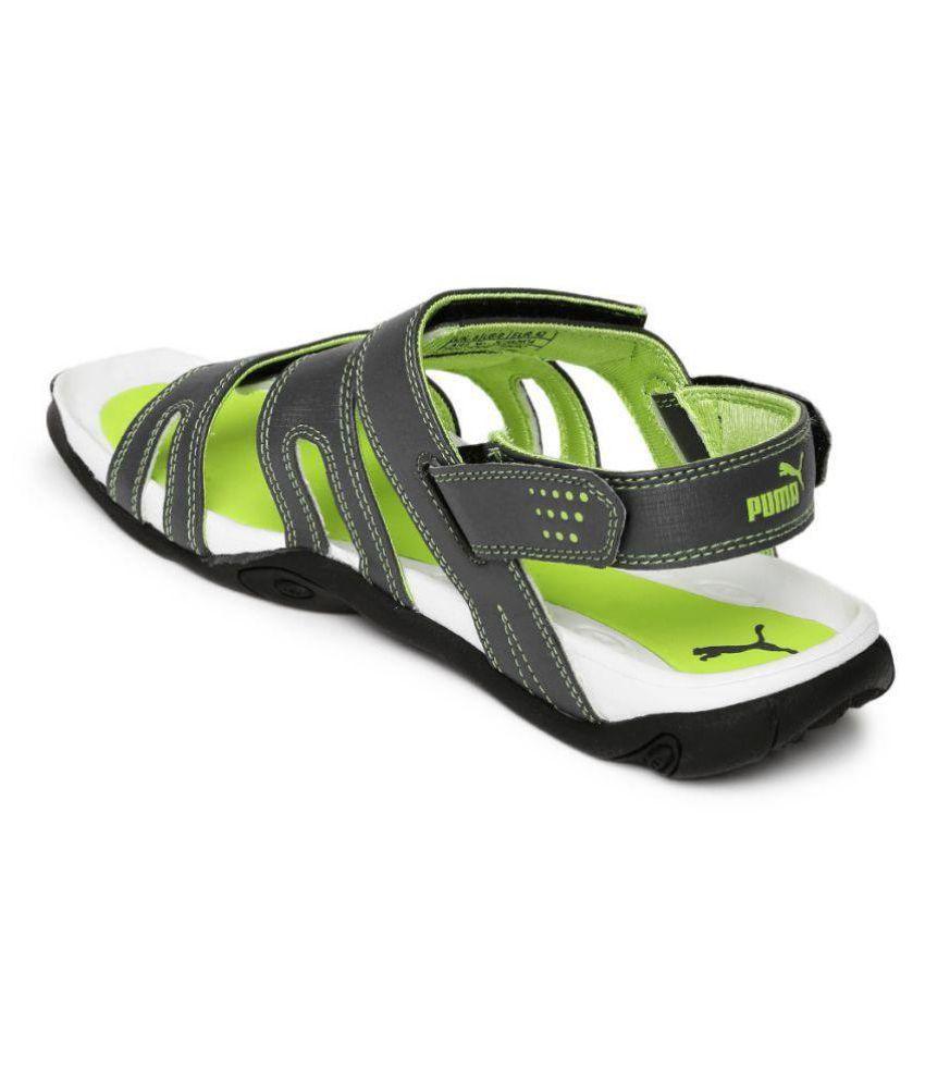 07569d9456c819 Puma Men Aripon 3 DP Gray Sandals Price in India- Buy Puma Men ...