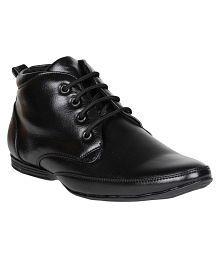 FANGIRL Office Black Formal Shoes