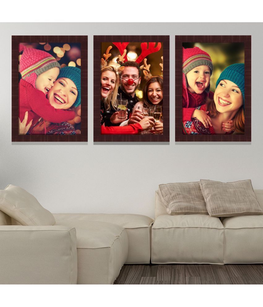 IMAGINATIONS Resin Brown Collage Photo Frame - Pack of 1