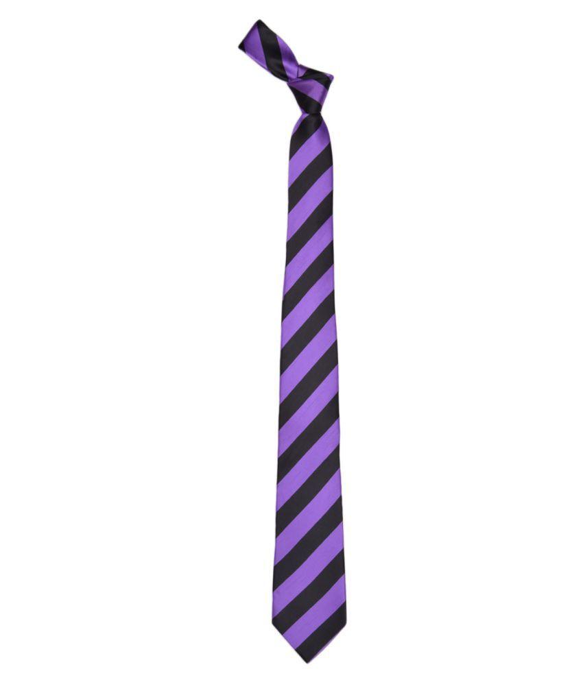 Alvaro Castagnino Purple Stripes Micro Fiber Necktie