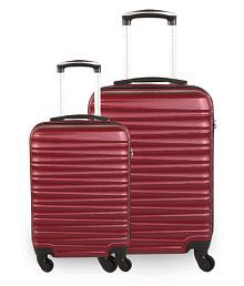 Fly Twister 4 Wheel Combo Set of 2 Red Small, Medium Hard Luggage Trolley Bag