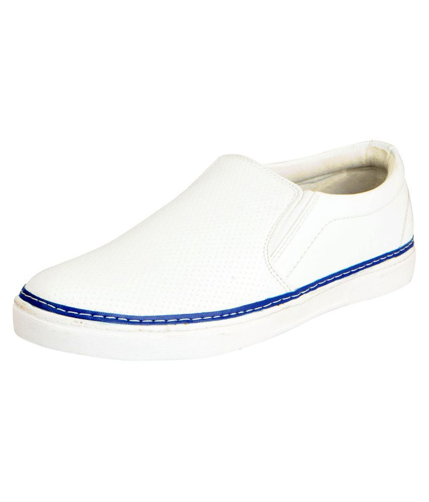 f2846480861 FAUSTO White Loafers - Buy FAUSTO White Loafers Online at Best Prices in  India on Snapdeal