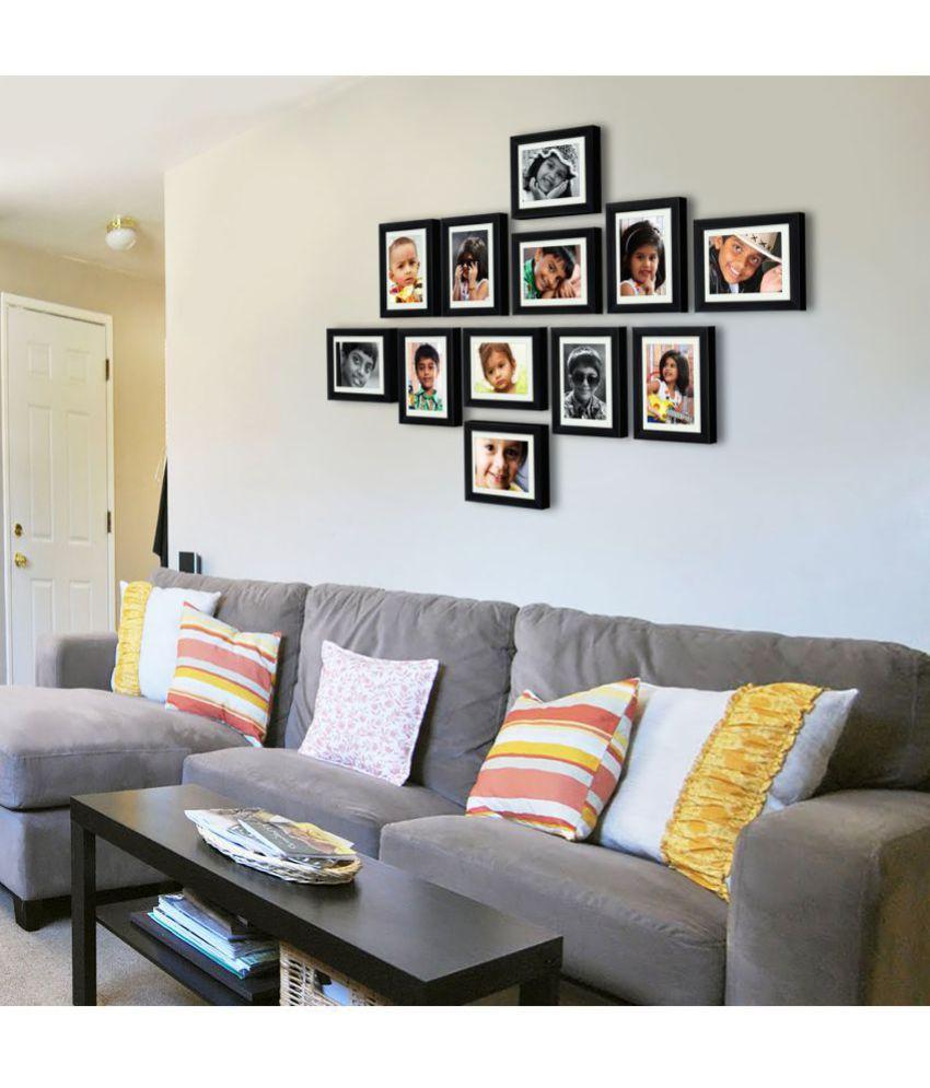 ... AJANTA ROYAL Glass Table Top U0026 Wall Hanging Black Photo Frame Sets    Pack Of ...