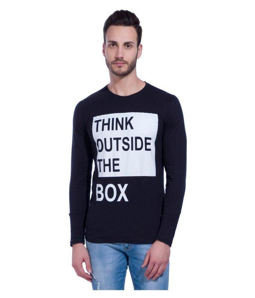 LEWEL Black Round T-Shirt