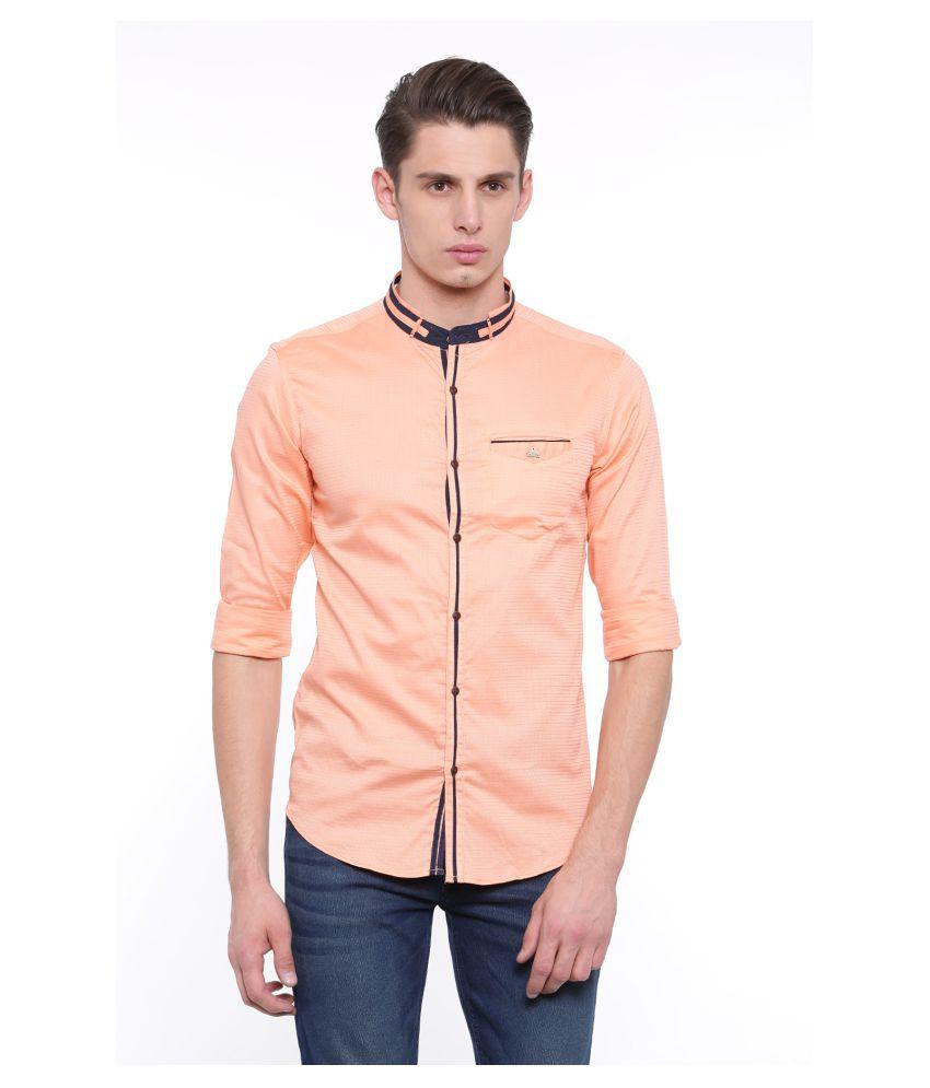 showoff Orange Slim Fit Shirt