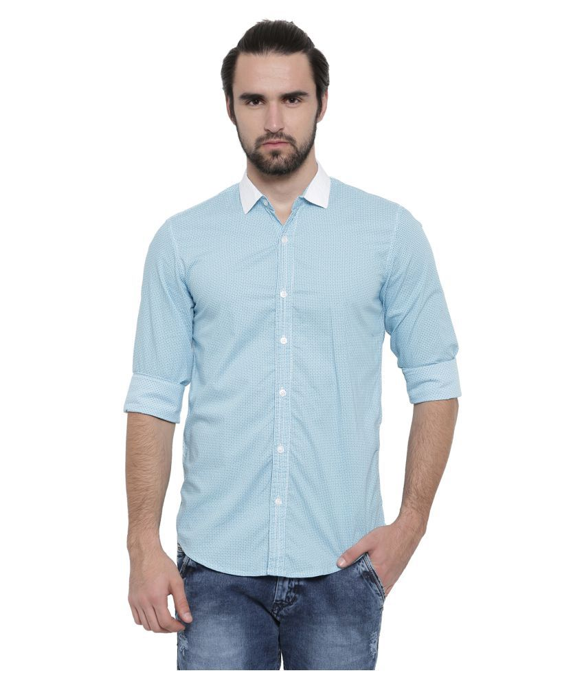 showoff blue Slim Fit Shirt