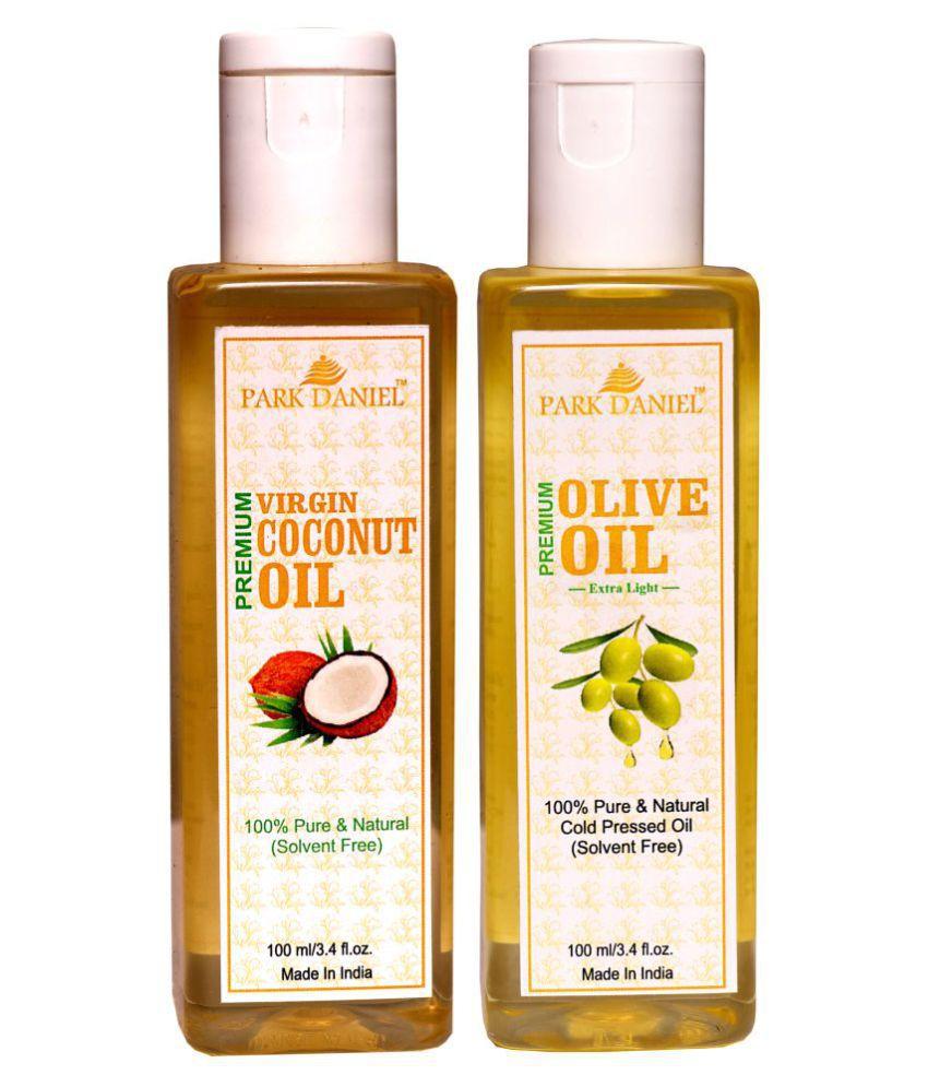 Park Daniel Premium Coconut &  Olive Oil(200 ml) 100% Pure & Natural 100 ml Pack of 2
