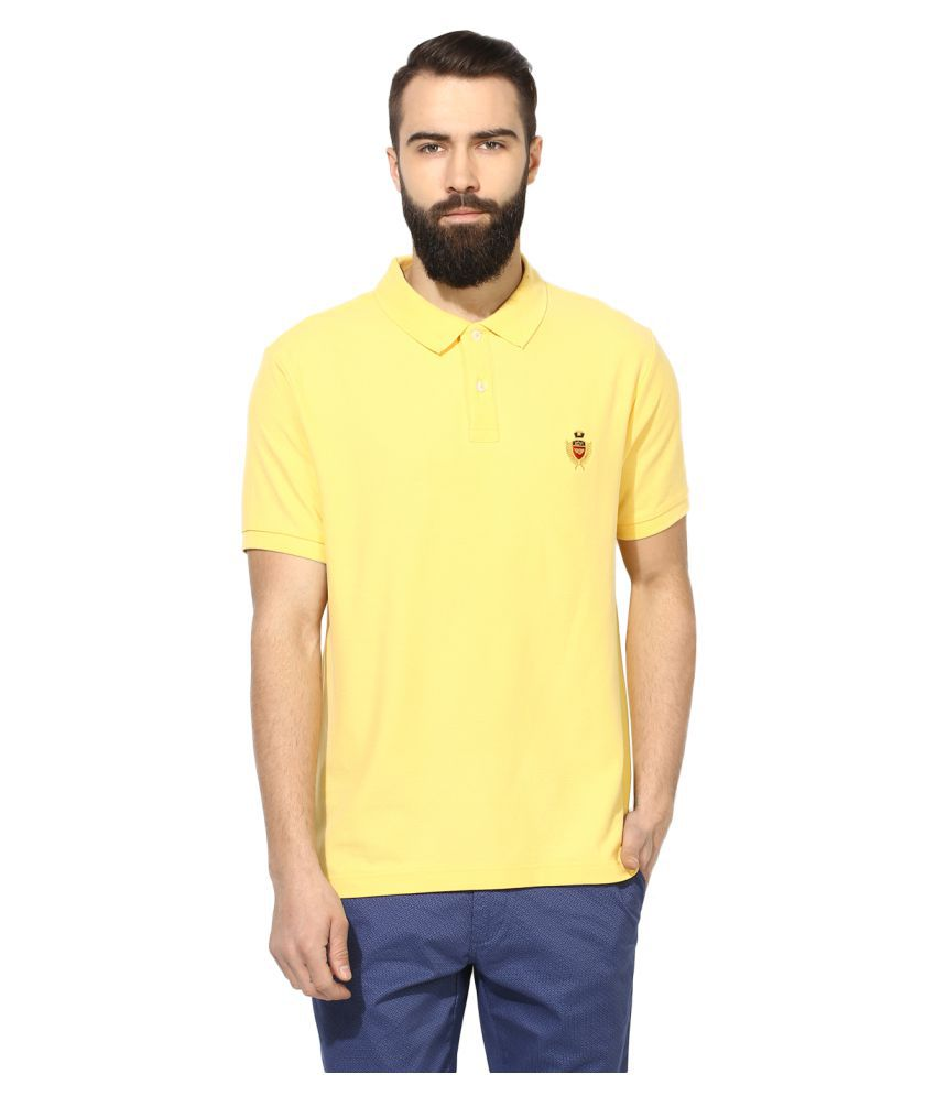 Red Tape Yellow High Neck T-Shirt