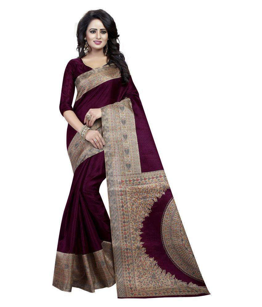 Mavani Purple Cotton Silk Saree