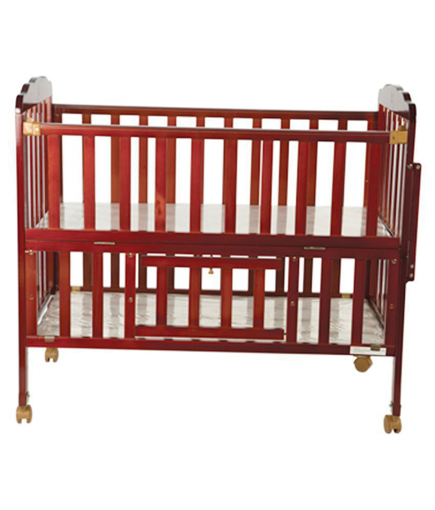 Mee Mee Baby Wooden Cot (With Cradle e2f6eb2a1