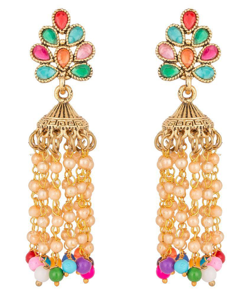 Pankh Multicolor Antique Earrings CFR 071