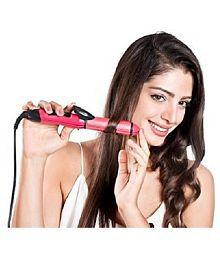 Battlestar Perfect Nova PN-2009 2-In-1 Advanced Hair Curler Hair Straightener ( Pink )