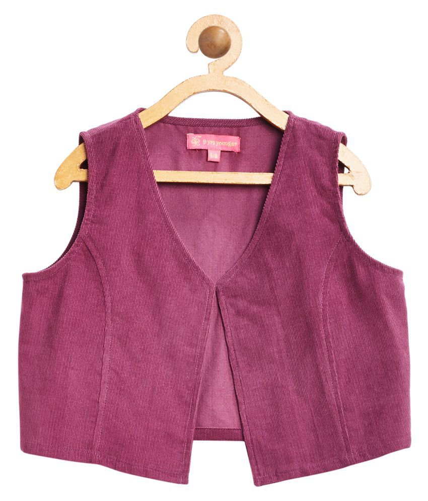 9 Yrs Younger Boysenberry Solid Corduroy Jacket