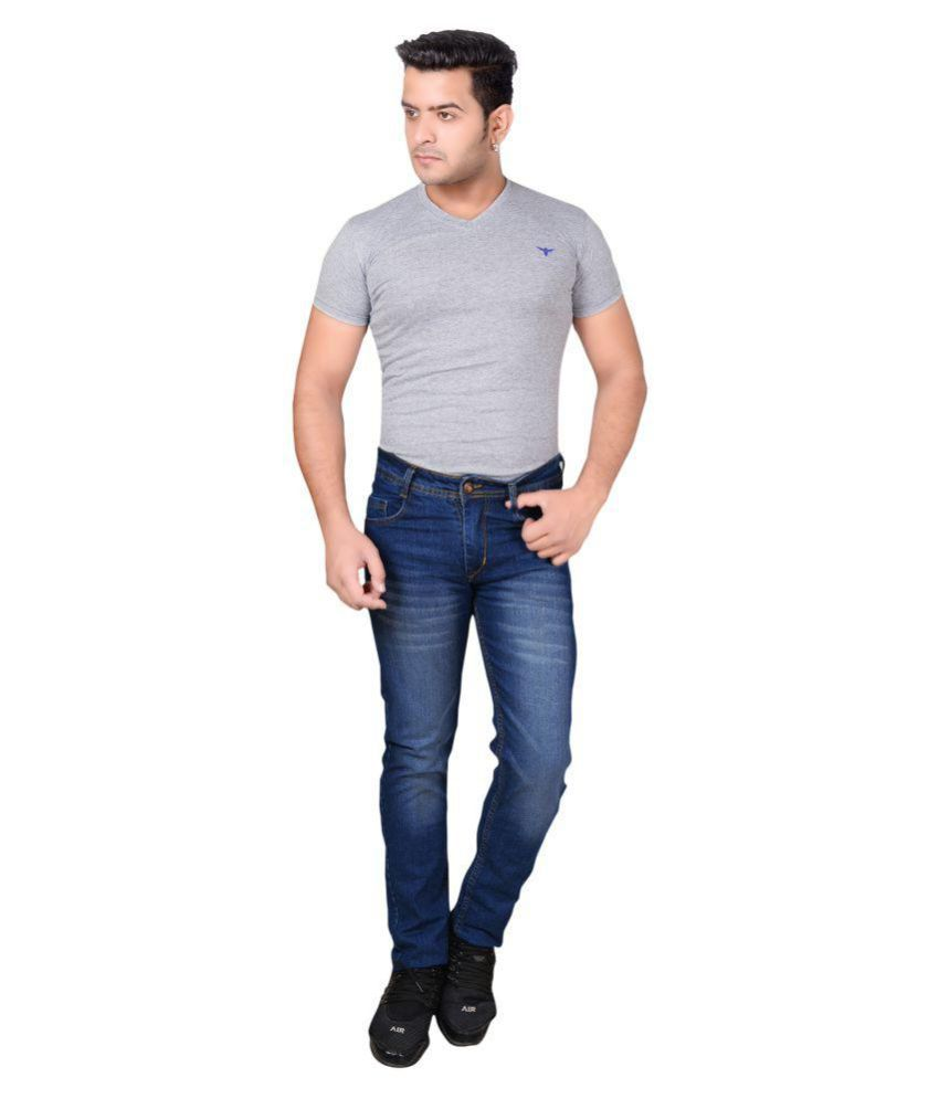 Dom & B Blue Straight Jeans