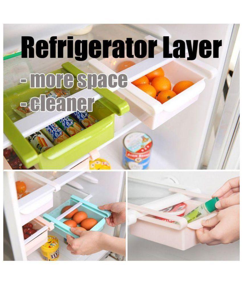 multipurpose fridge storage sliding storage drawer rack pack of 4