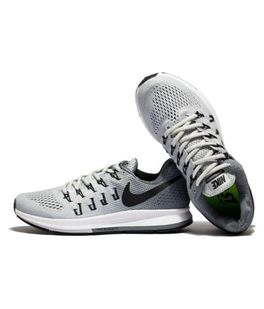 e01086033 Nike Zoom Pegasus 33 Gray Running Shoes - Buy Nike Zoom Pegasus 33 ...