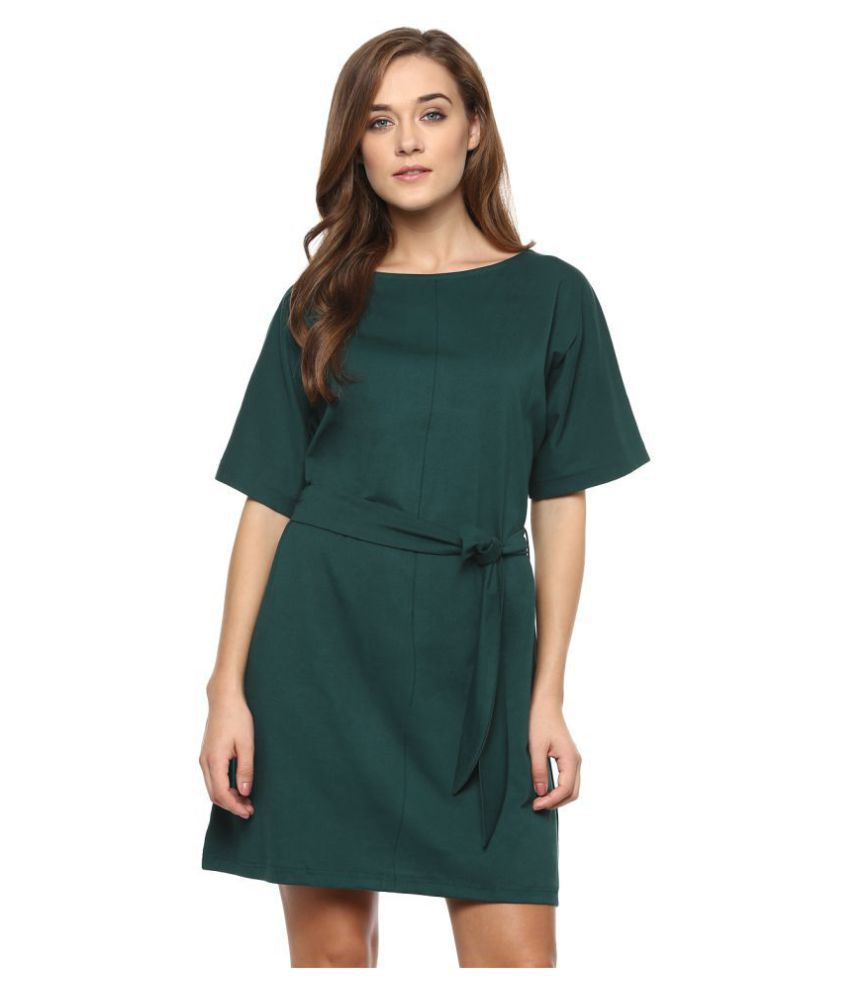 Miss Chase Cotton Green Dresses