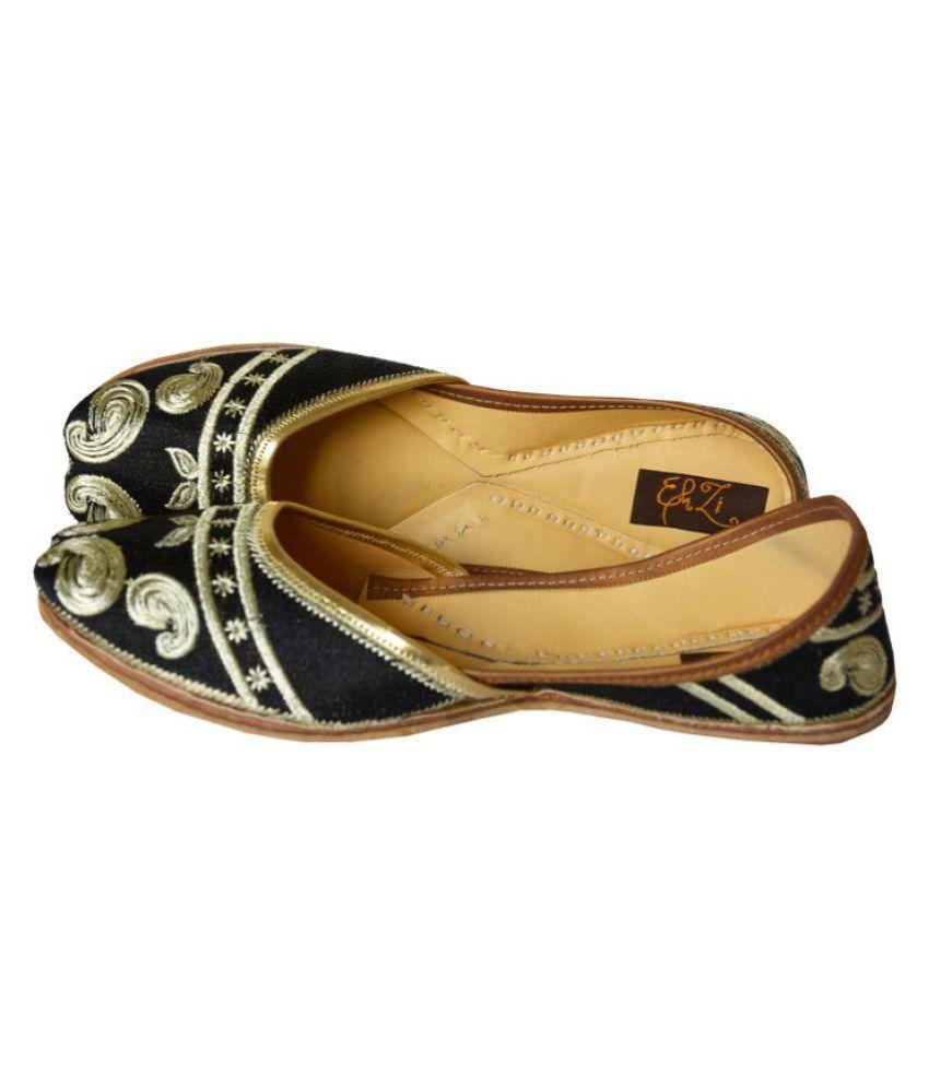 Ehzi Designs Black Ethnic Footwear