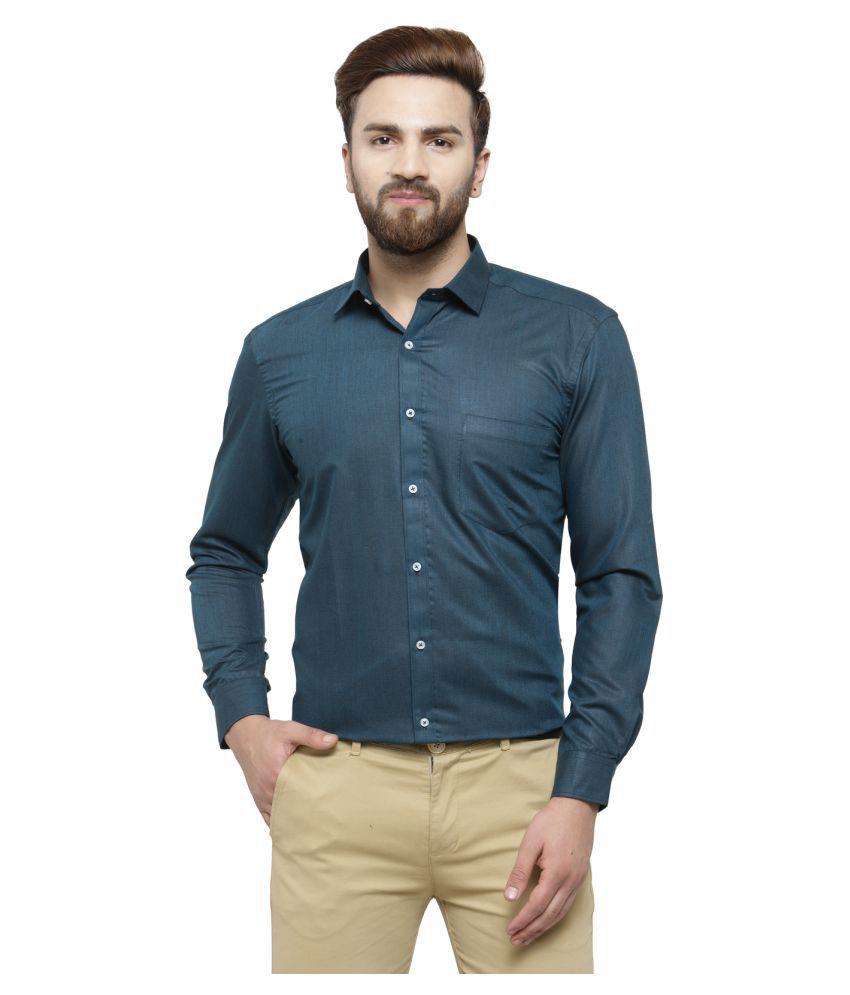 RG Designers Blue Slim Fit Formal Shirt