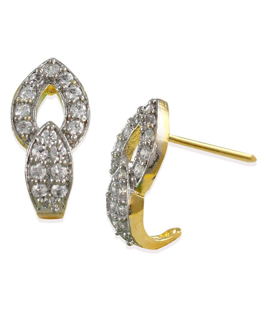 Zaveri Pearls Delicate Cubic Zirconia Stud Earring - ZPFK6241