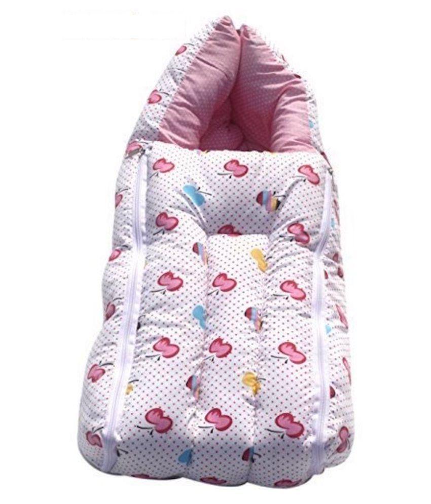 KiddosCare Pink Cotton Sleeping Bags ( 64 cm × 41 cm)