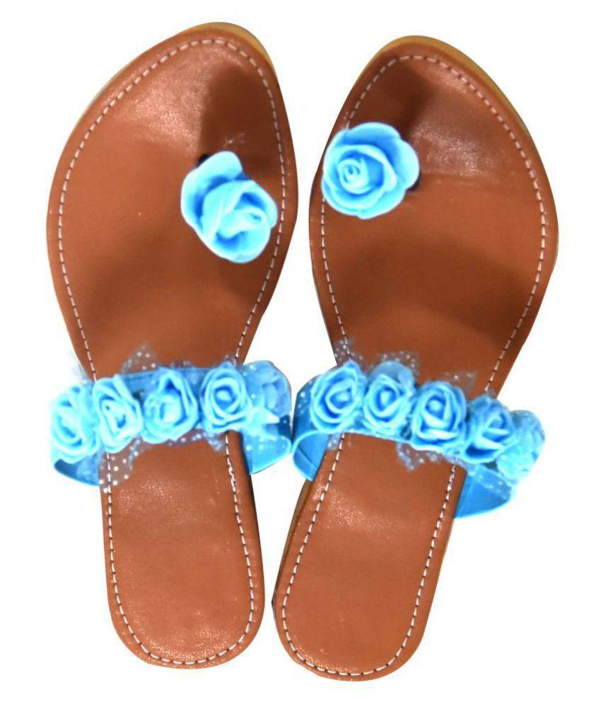 Magnus Blue Ethnic Footwear