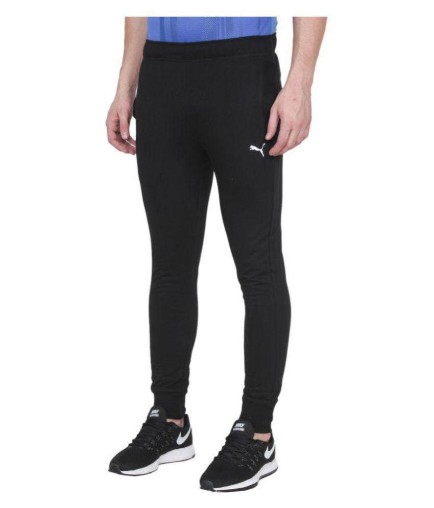 Puma Black Polyester Joggers