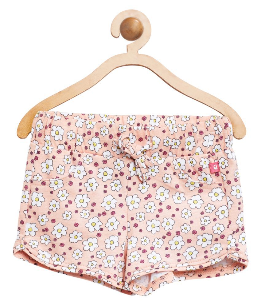 United Colors of Benetton Pink Berry Printed Shorts - 16P3094C0062I902XX