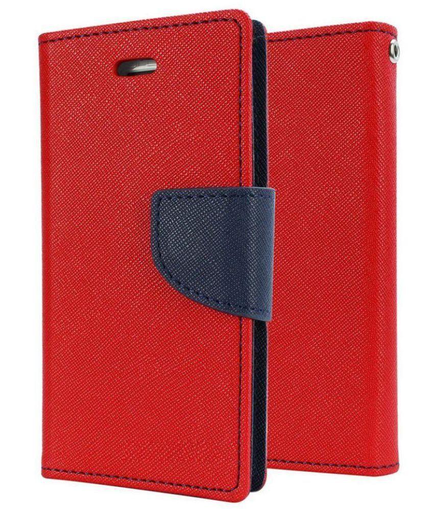 Samsung Galaxy Mega 5.8 Flip Cover by Micomy - Red