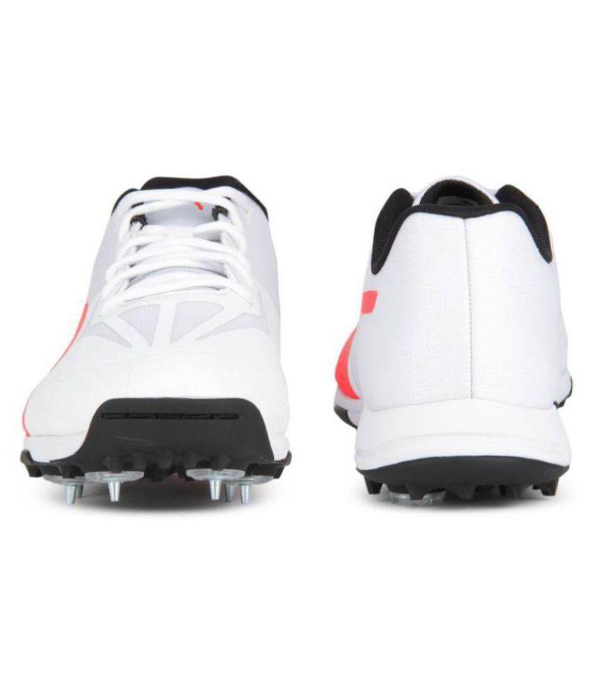 Puma evoSPEED 360.1 White Cricket Shoes