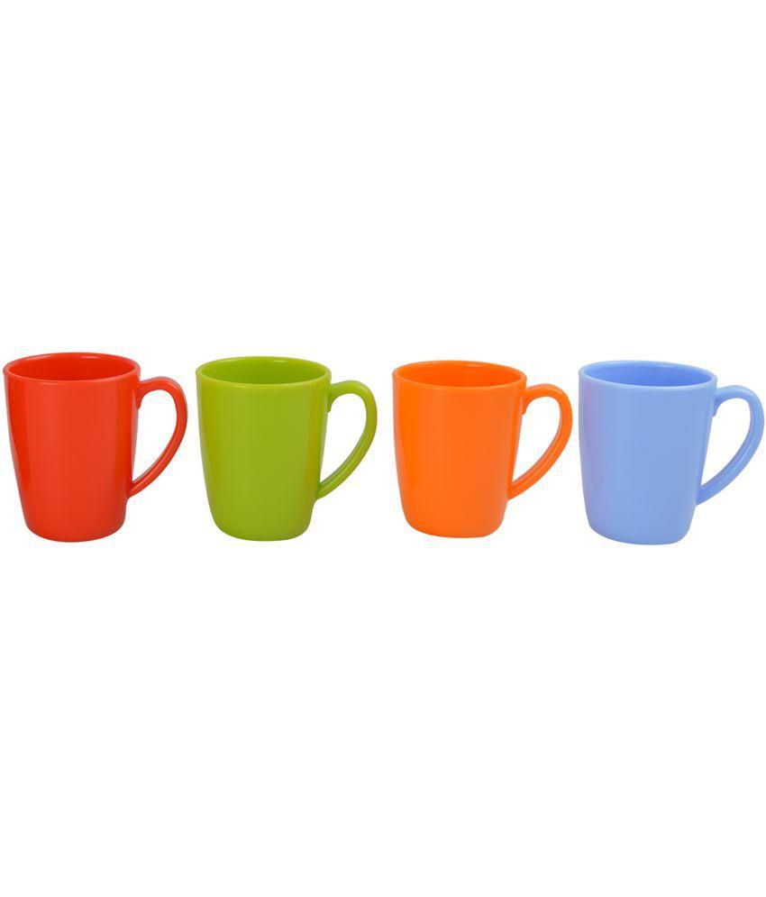 Lifeplast Plastic Coffee Mug 4 Pcs 25 cm ml