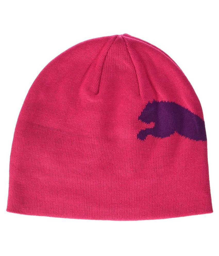 Puma Pink Animal Print Wool Caps - Buy Online   Rs.  fa50662c88a