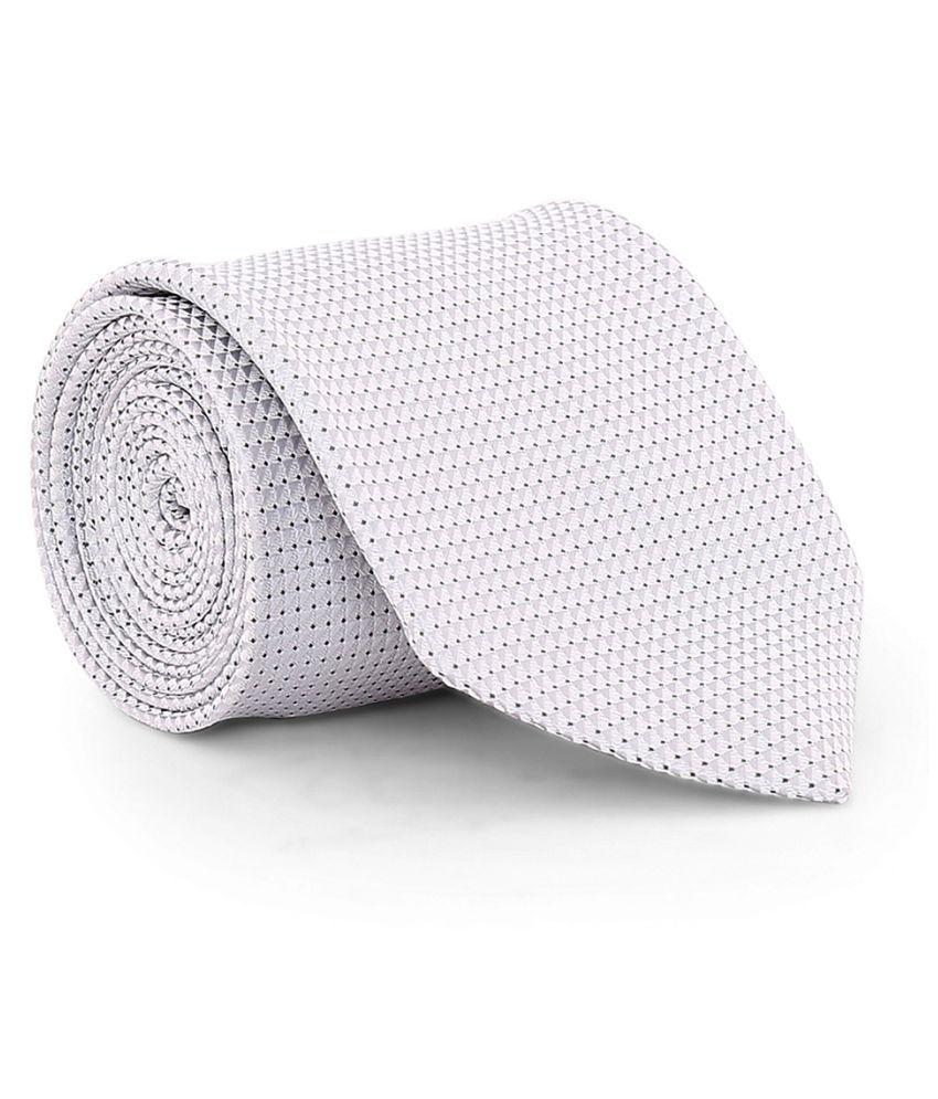 Zido Gray Abstract Satin Necktie