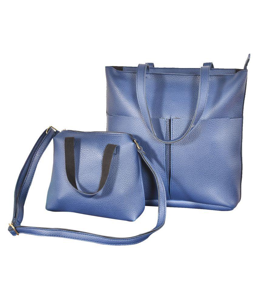 Altitude Navy Blue P.U. Shoulder Bag