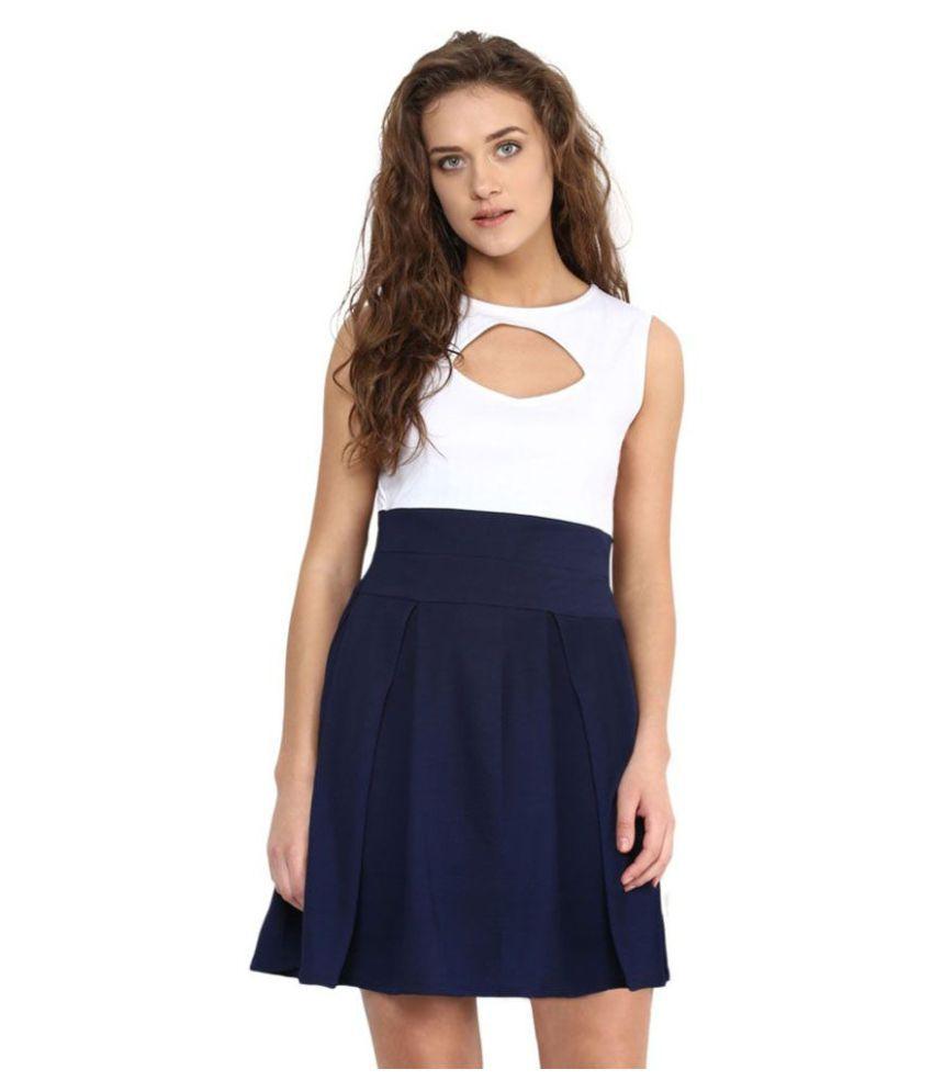 Miss Chase Cotton White Skater Dress