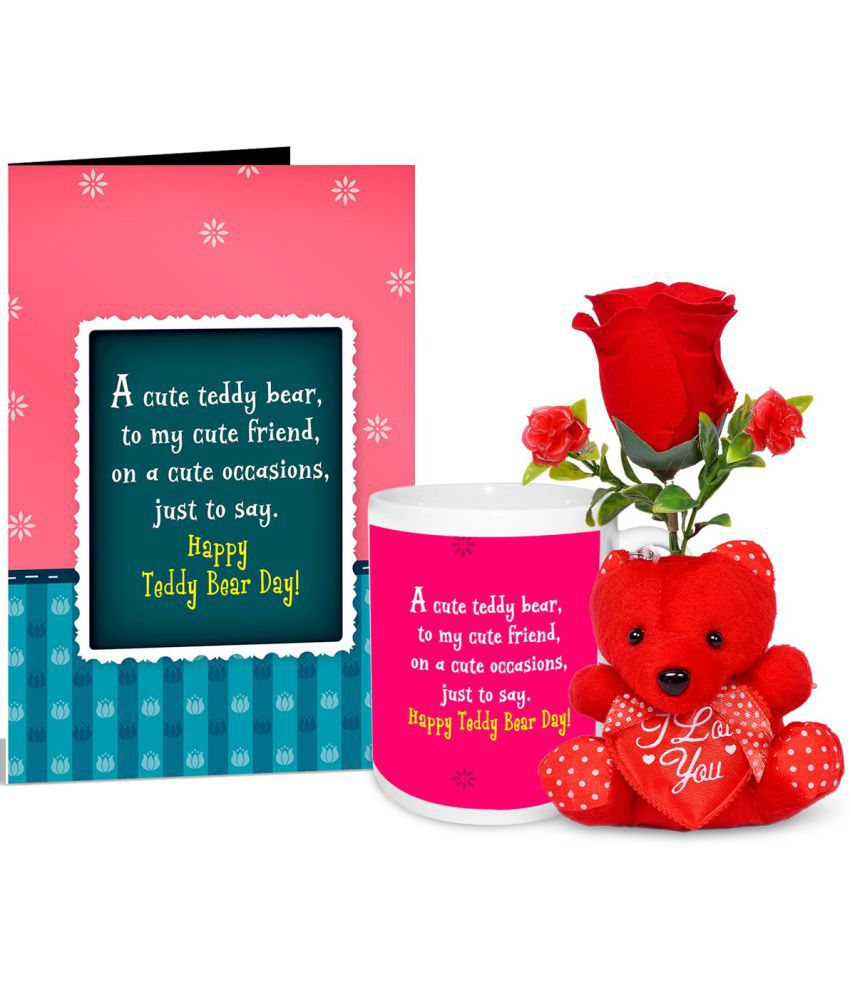 alwaysgift Ceramic Valentine Hamper Multicolour - Pack of 2