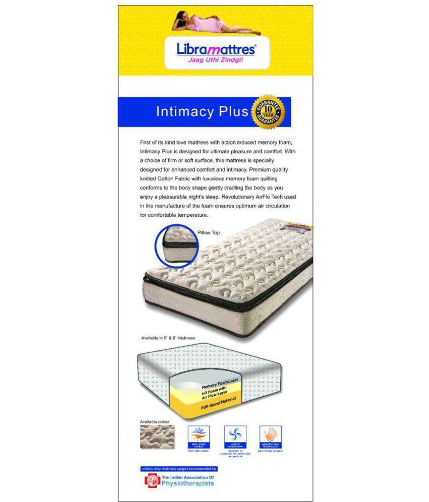 libra intimacy plus foam mattress buy libra intimacy plus foam