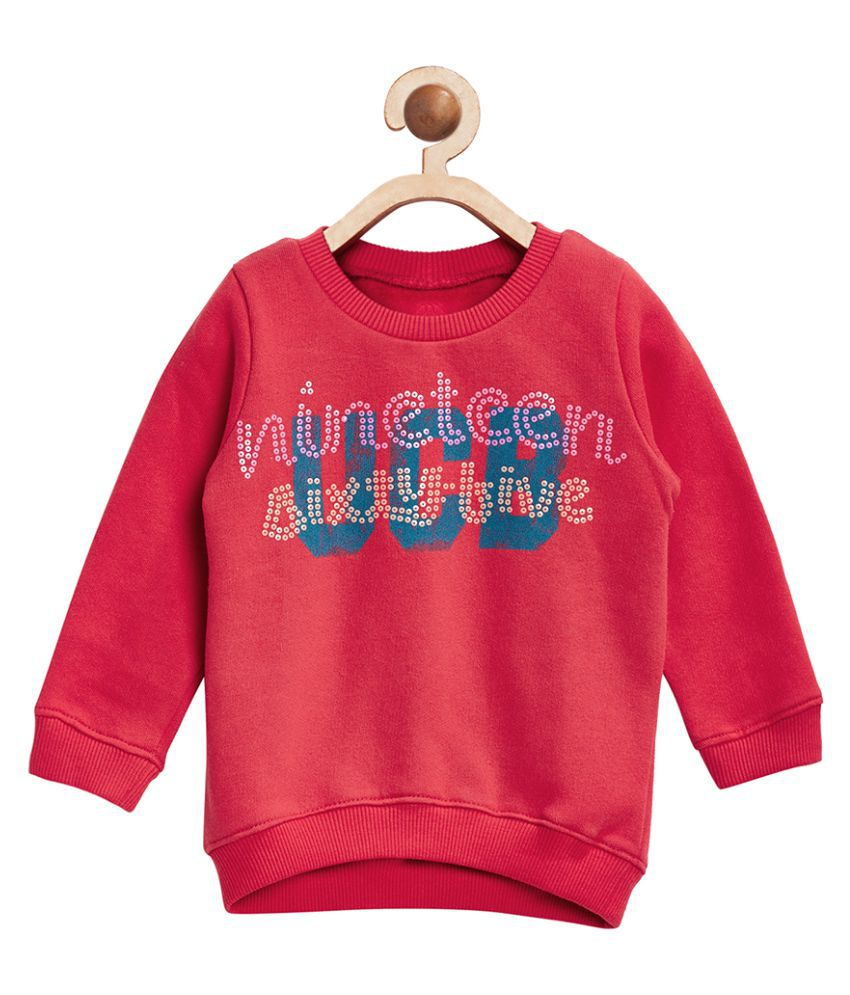 United Colors of Benetton Red Cotton Sweatshirt - 16A3BUYC12VYGK11S