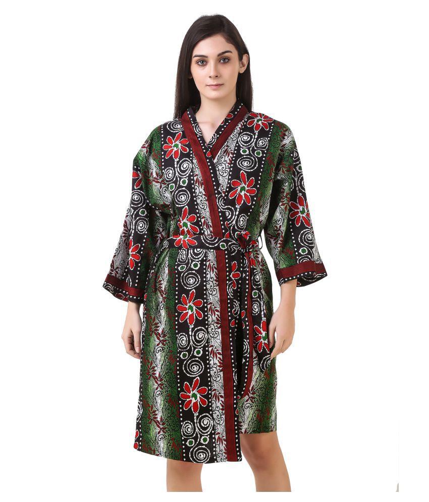 Masha Cotton Robes - Green