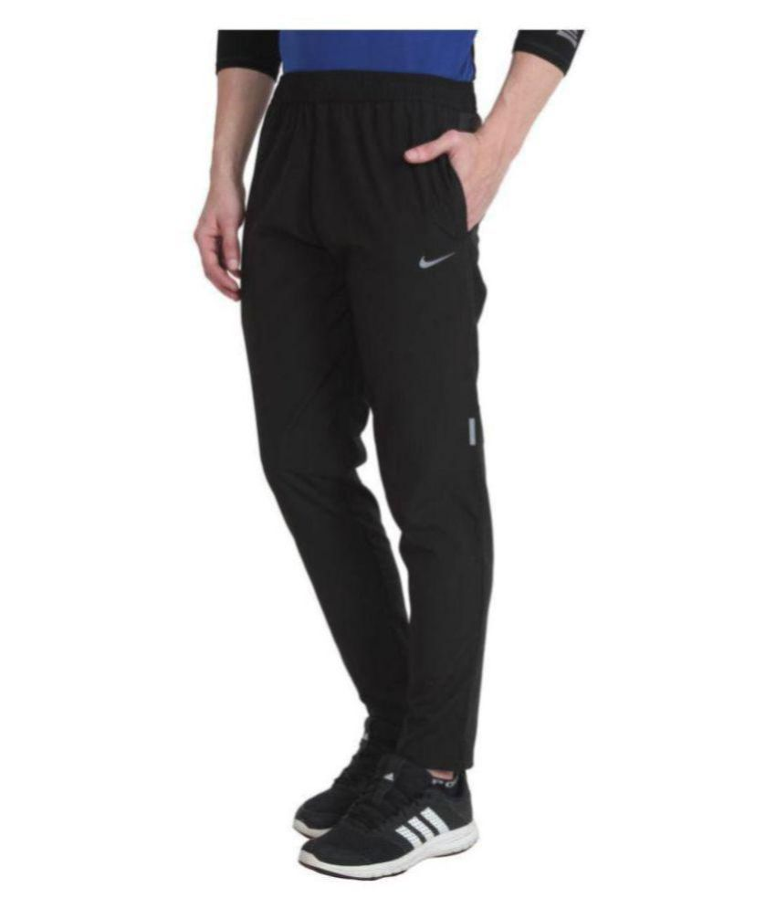 Alini Black Sports Track Pant With Nike Signature