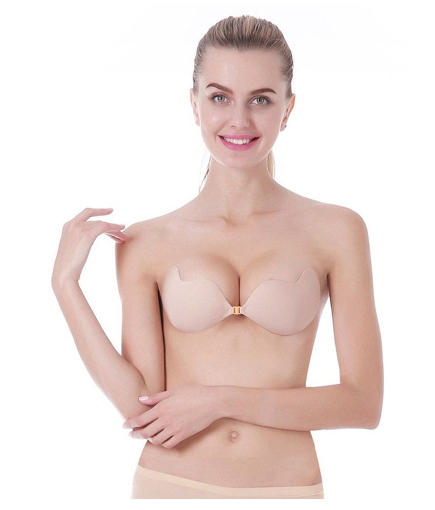 Hapani Fashion Nylon Stick on Bra - Beige