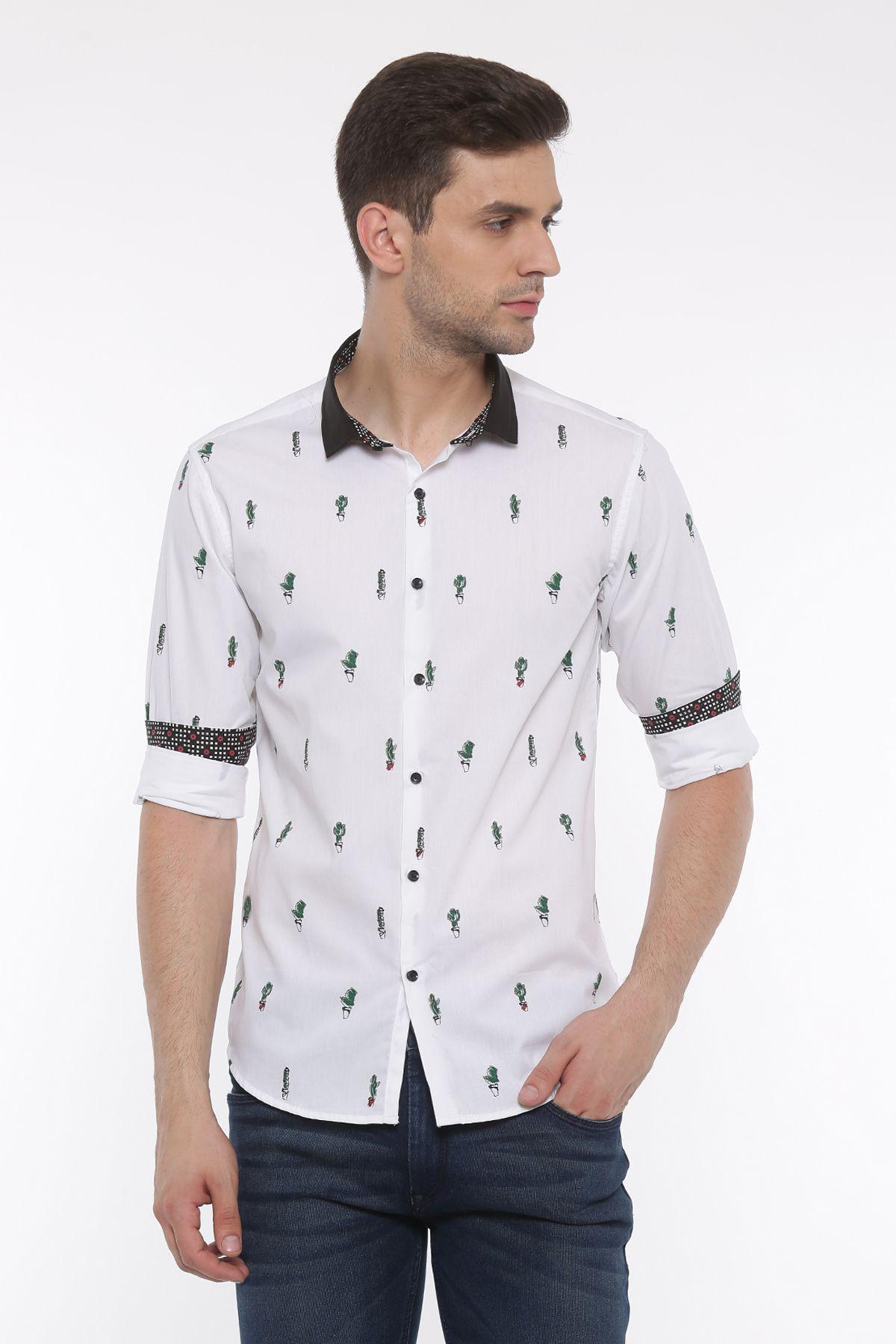 showoff White Slim Fit Shirt