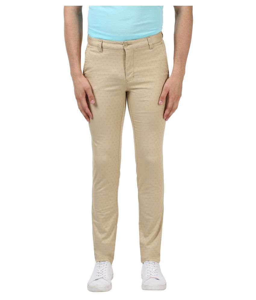 Colorplus Beige Regular -Fit Flat Trousers