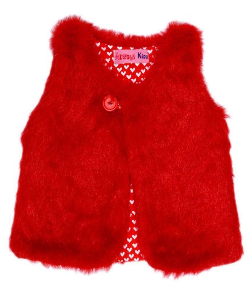 Always Kids Nordic Vest Red Heart
