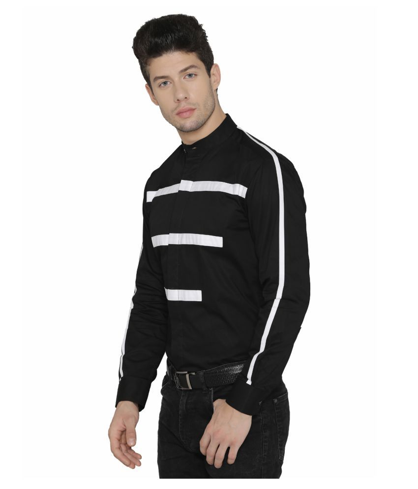 3d514c71bae ... DAZZIO Black Slim Fit Party wear Shirt ...