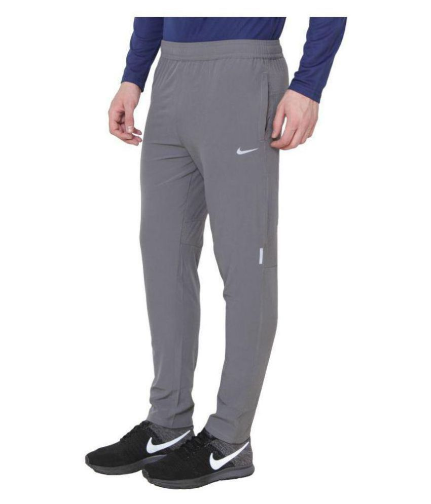 Nike Grey Polyester Sports Trackpants