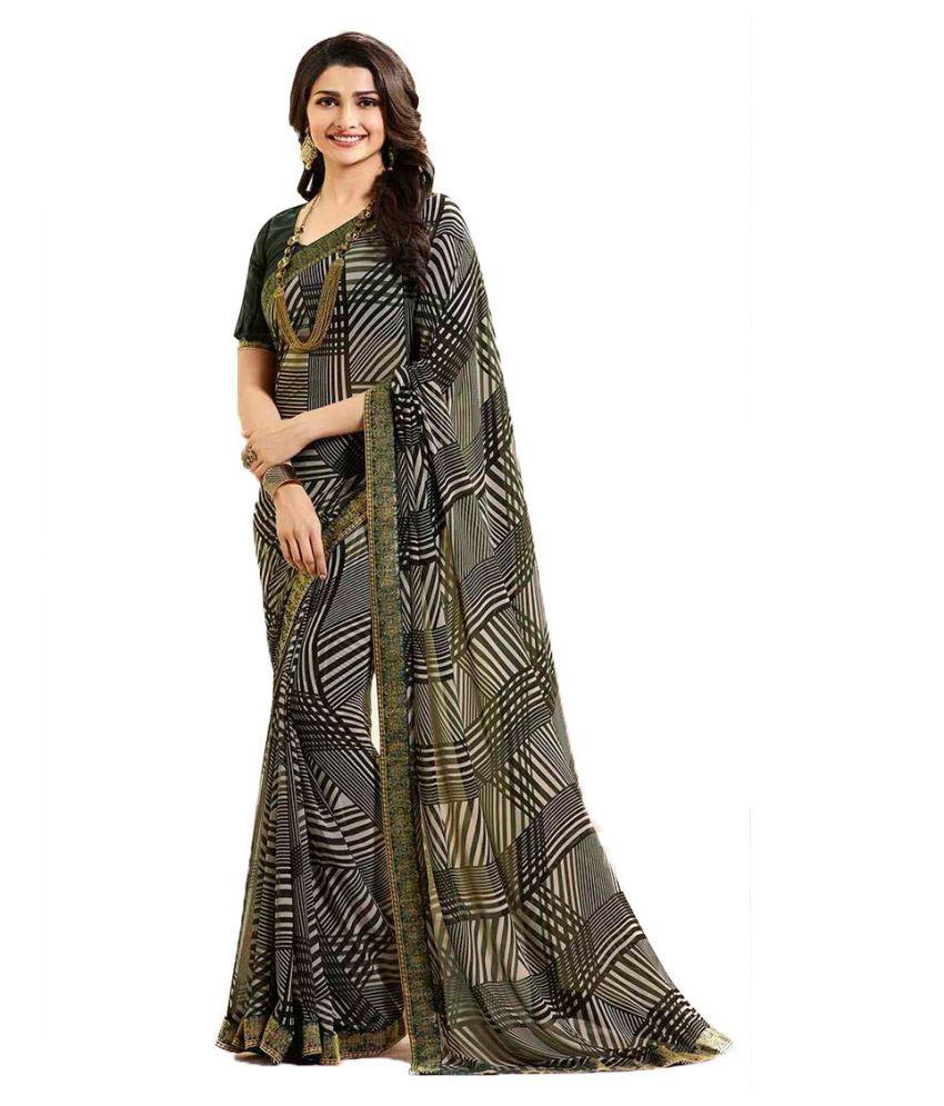 Rahi Fashion Multicoloured Georgette Saree