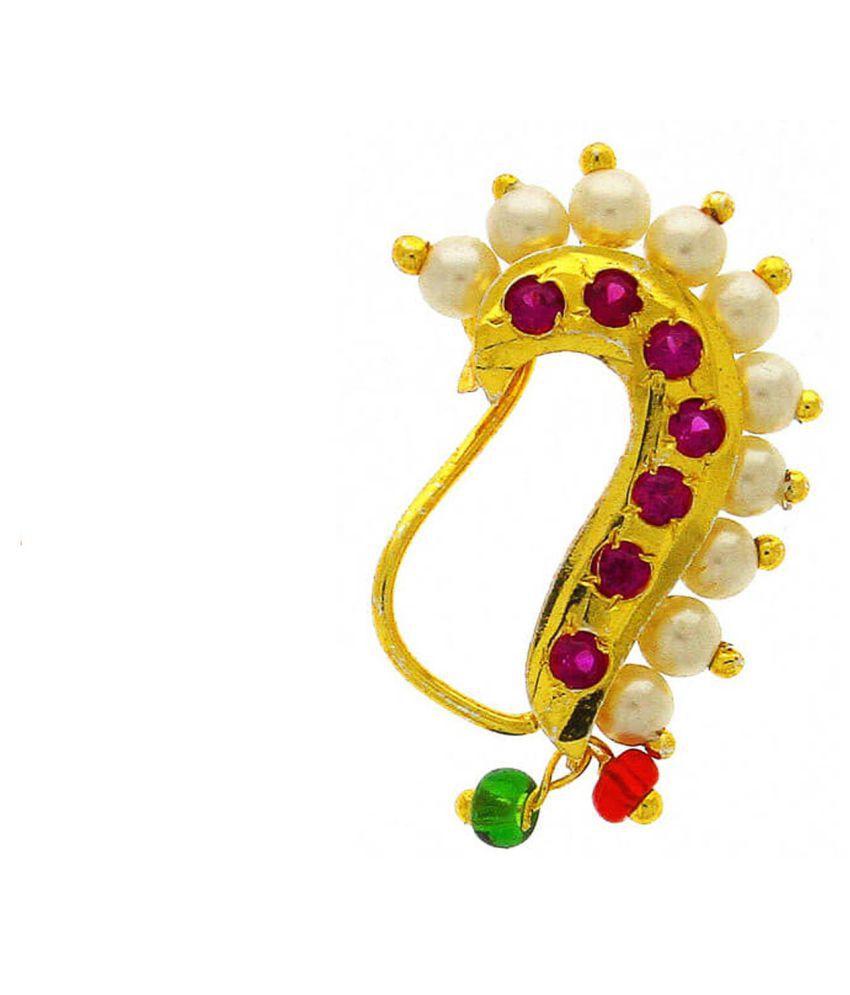 Aionios Creations Banu Nath Traditional Maharashtrian Nose Ring